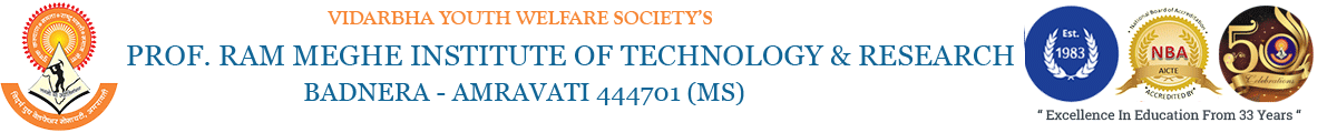 Welcome to Prof. Ram Meghe Institute of Technology & Research