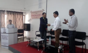 Interaction with Mr. Dabir Regional Manager MCED Amravati 16.10.15